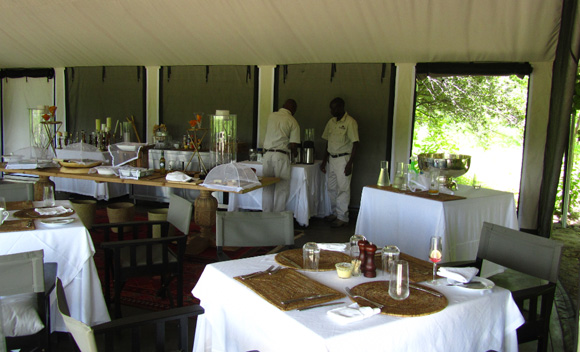 Dining Area at Camp Machaba