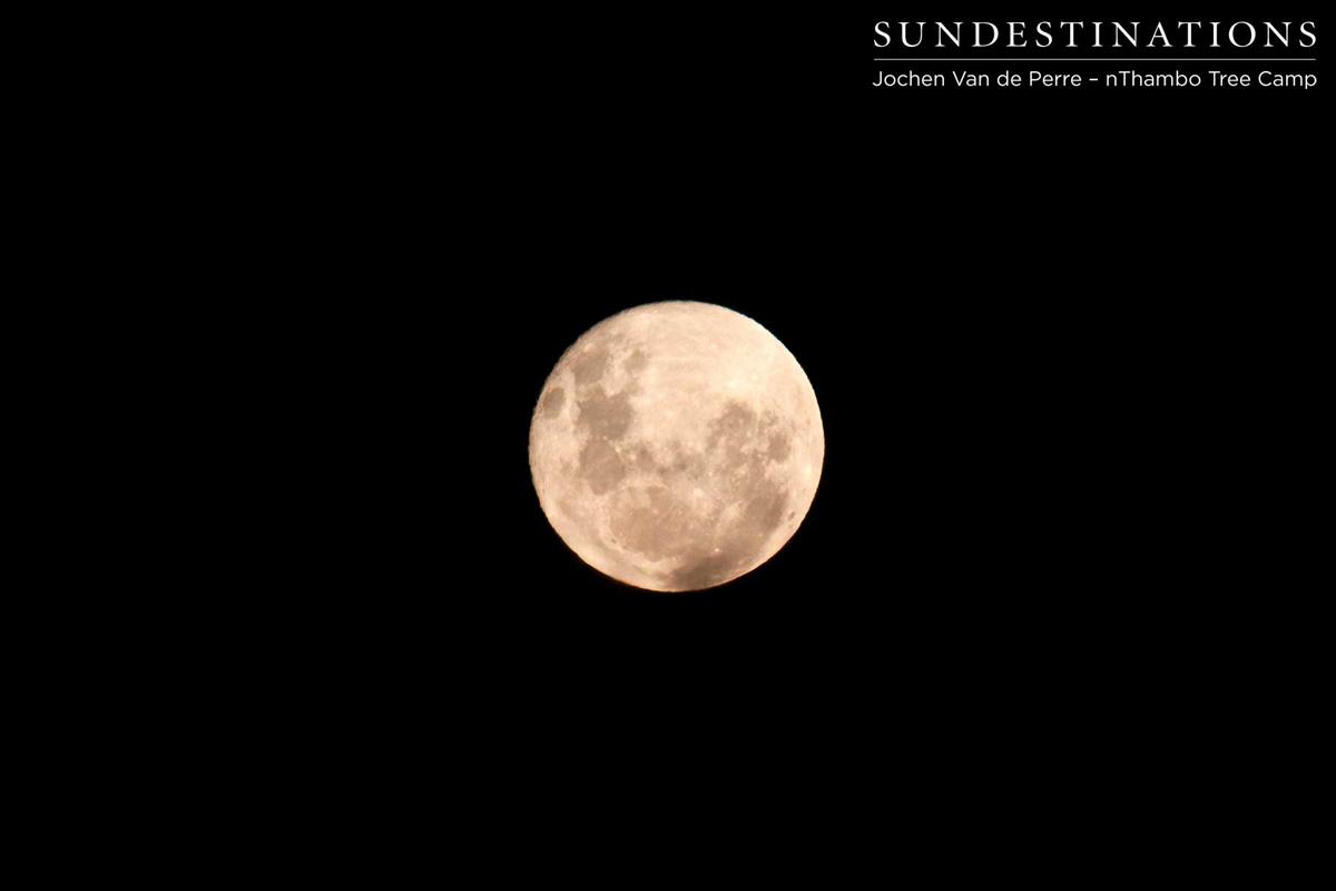 Full moon - perfect setting for a braai