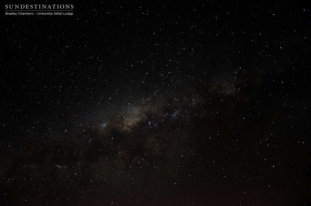 Milky way seen from Umkumbe Safari Lodge