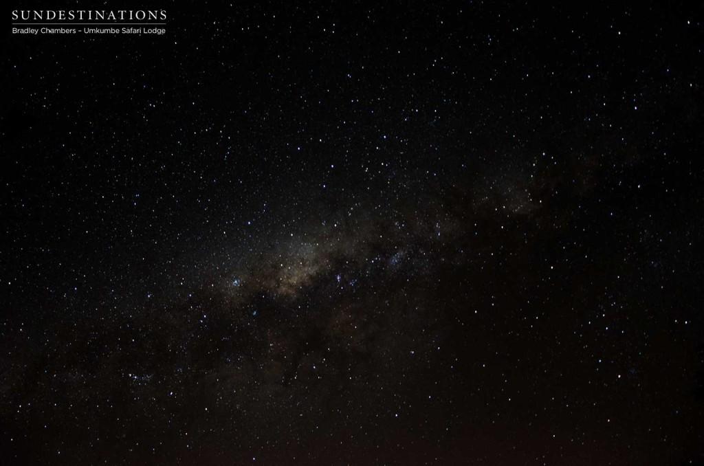 Milky way seen from Umkumbe Safari Lodge