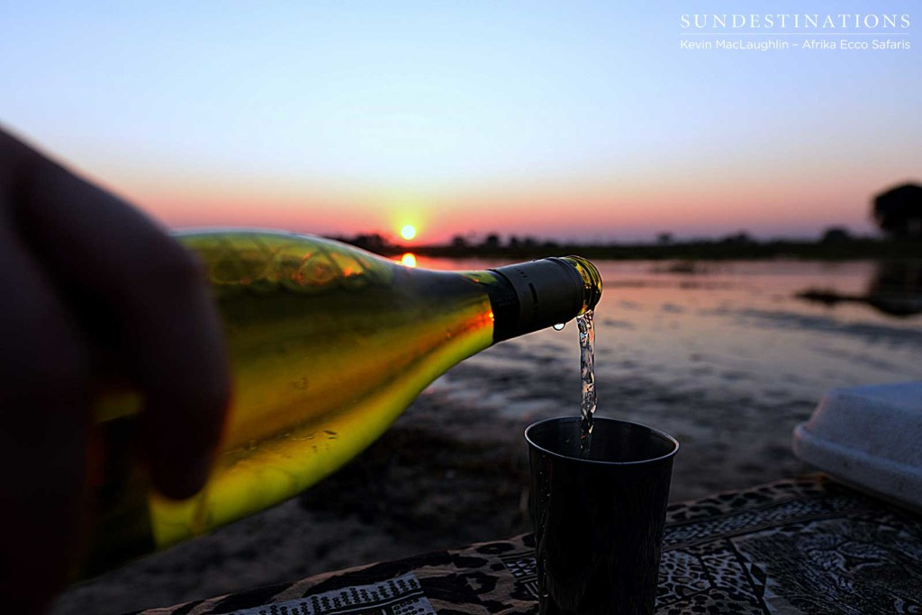 Cheers to the sunset!
