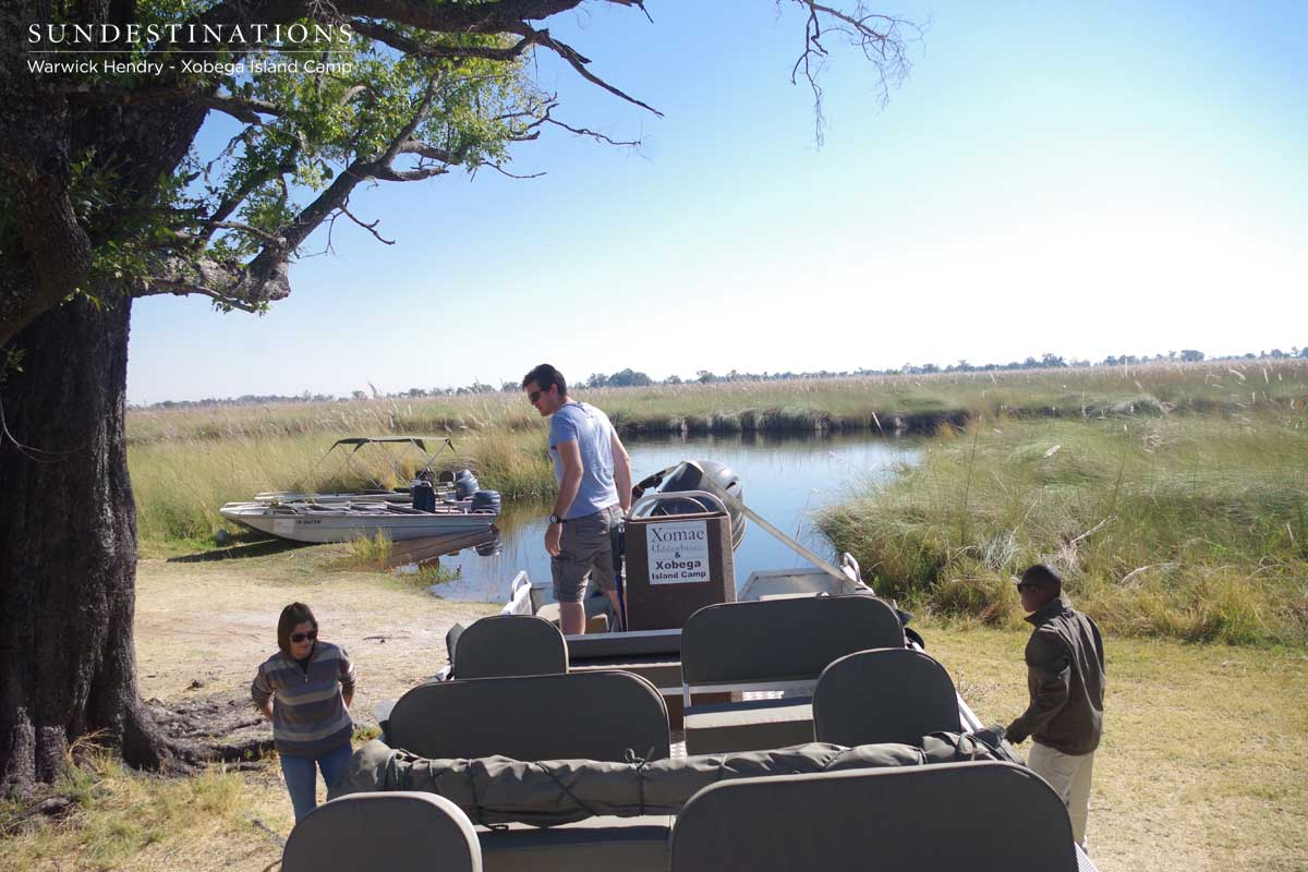 Xobega Boat journey through Moremi Game Reserve