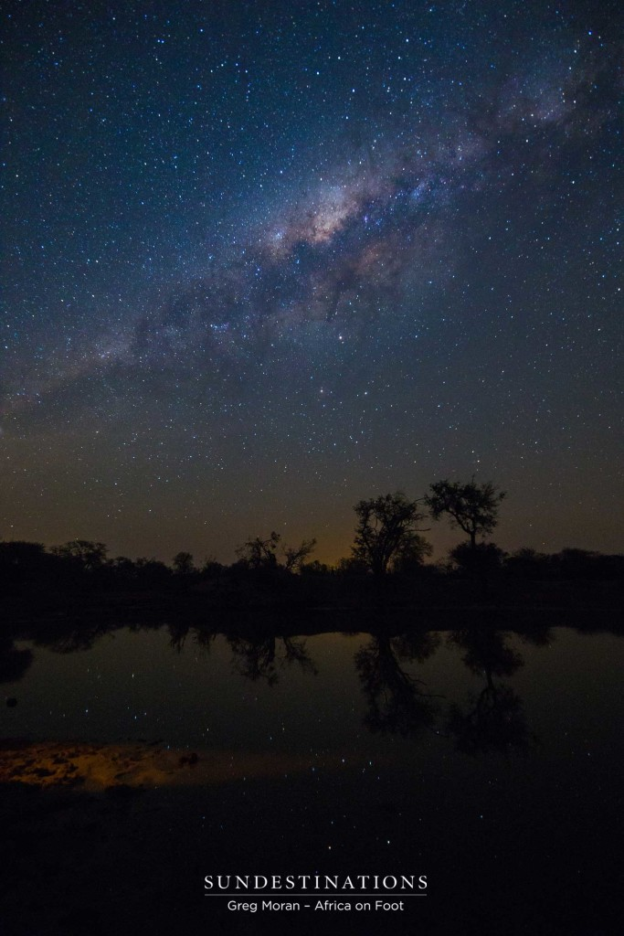 An impeccable display of the night skies being reflected in the silent water