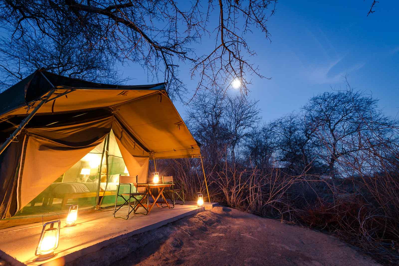 One of the 6 Meru-style Tuskers guest tents