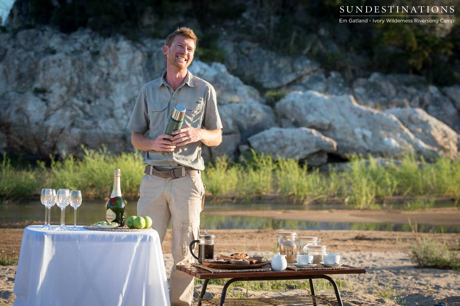 Champagne Bush Breakfast at Ivory Wilderness Riversong Camp
