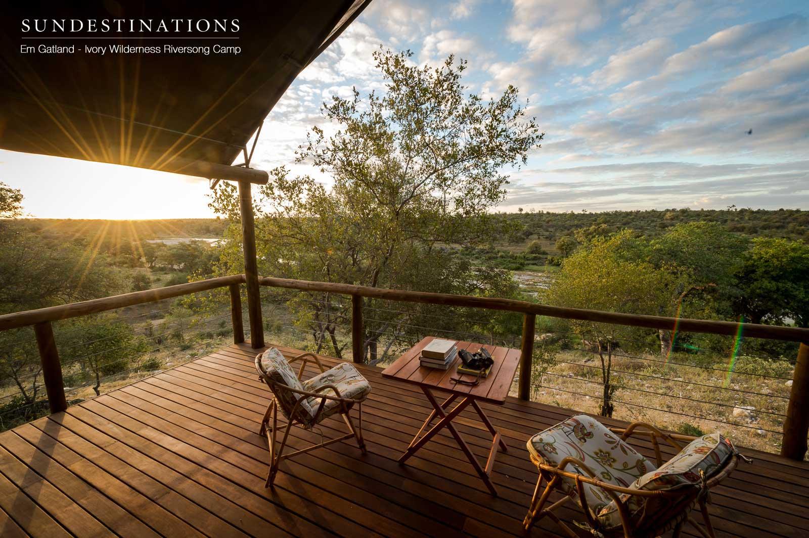 Ivory Wilderness Camp Balcony