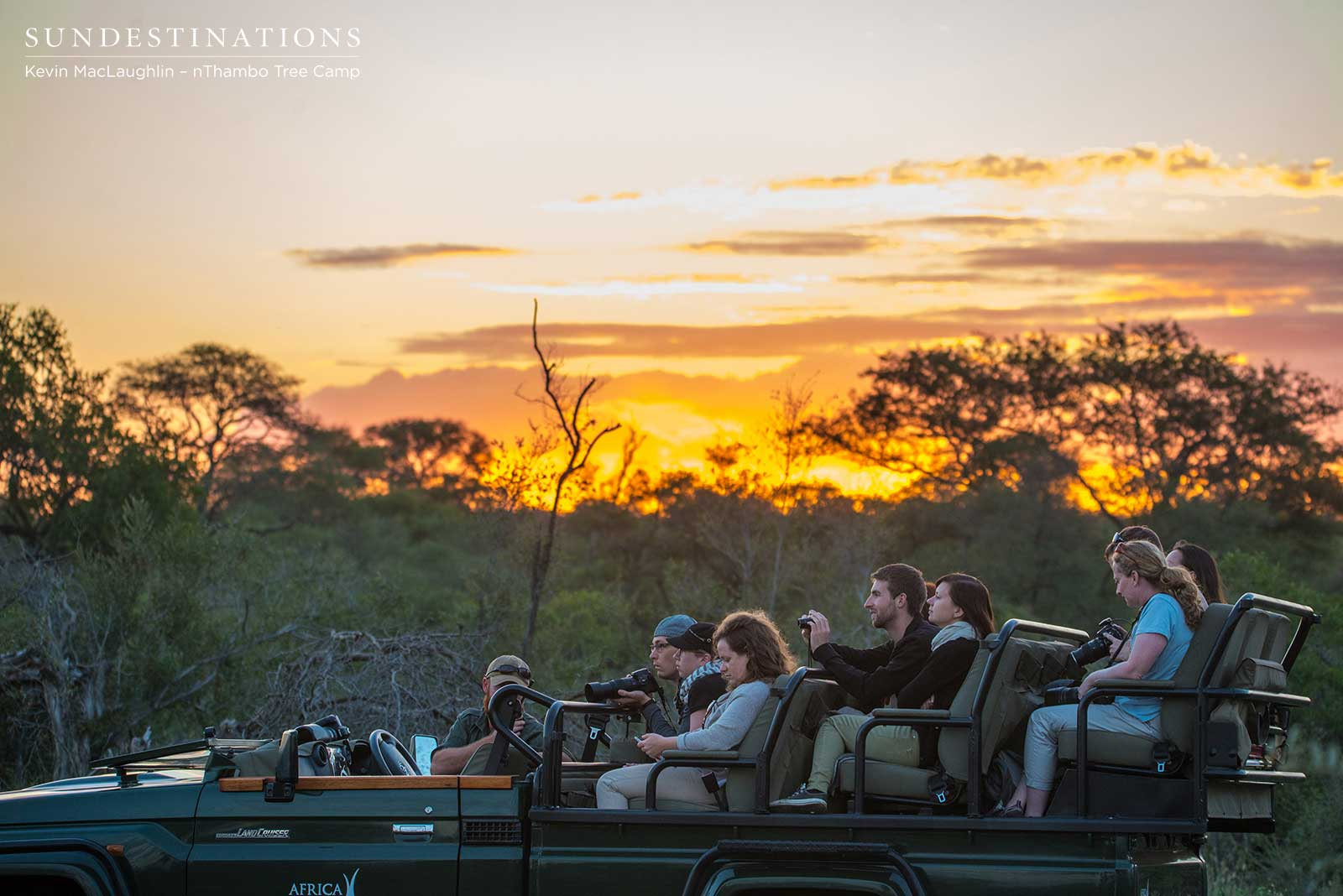 nThambo Tree Camp Sunset Game Drive