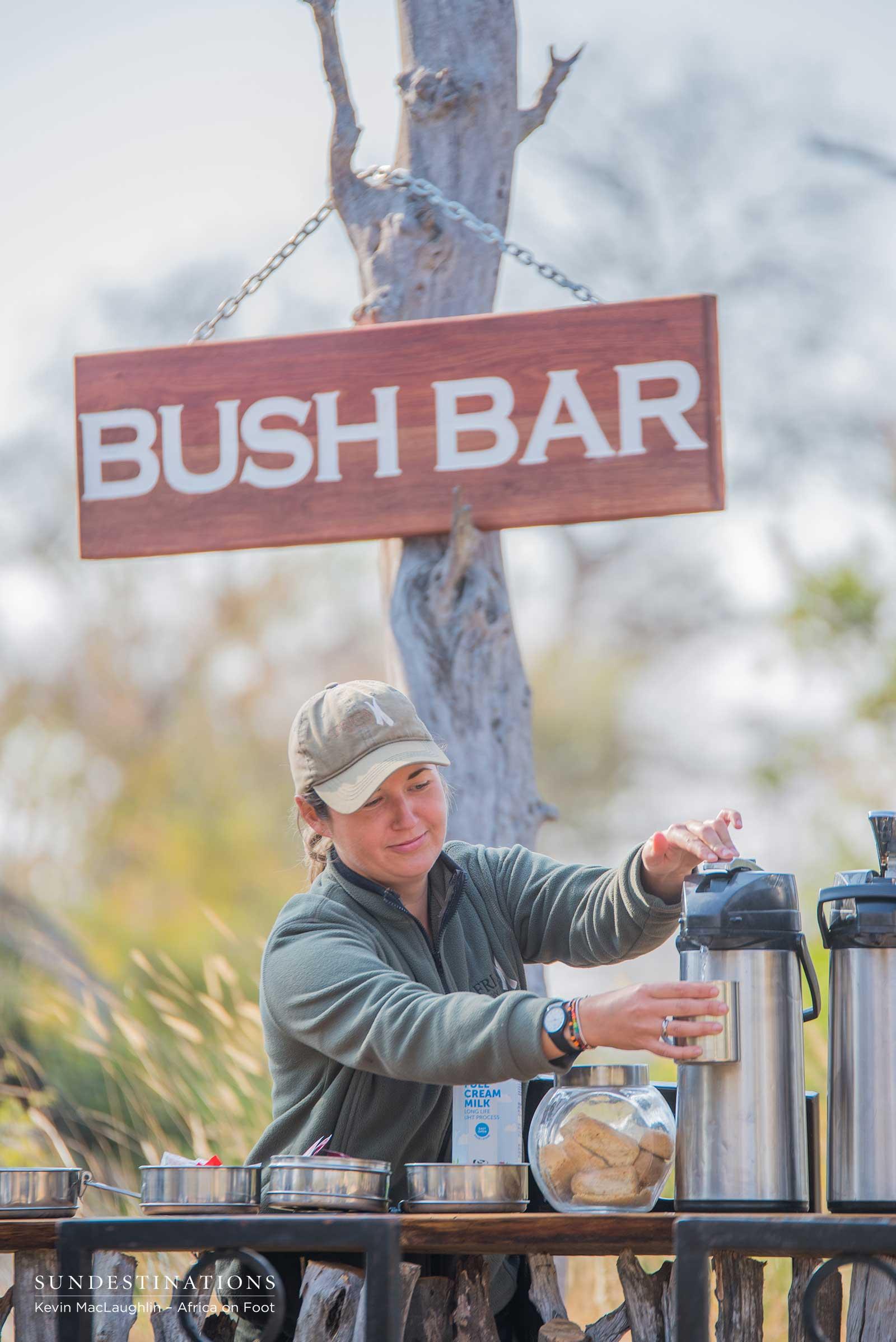 Ranger Serving Drinks at Bush Bar