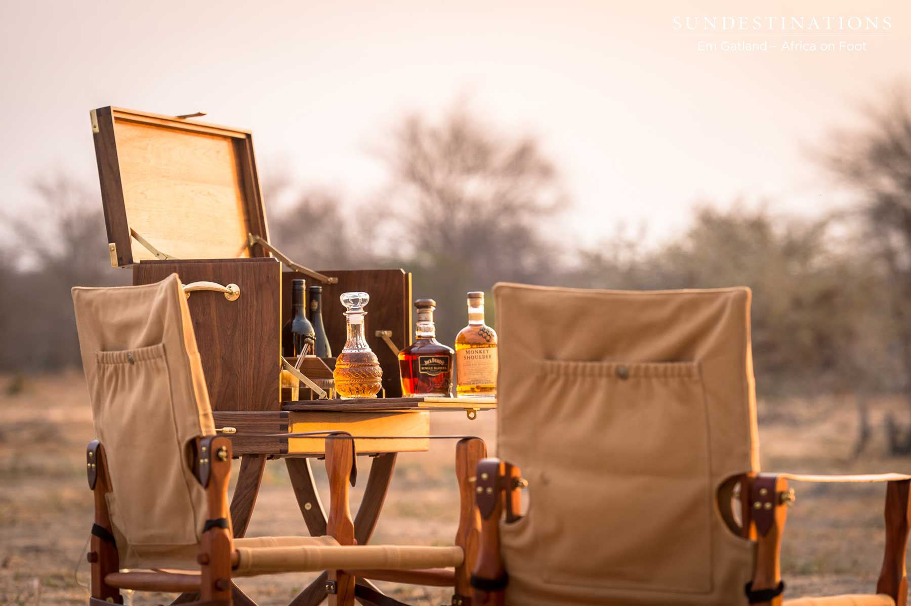 Our Honeymoon Sundowner Experience with a Classic Melvill & Moon Safari Set-up