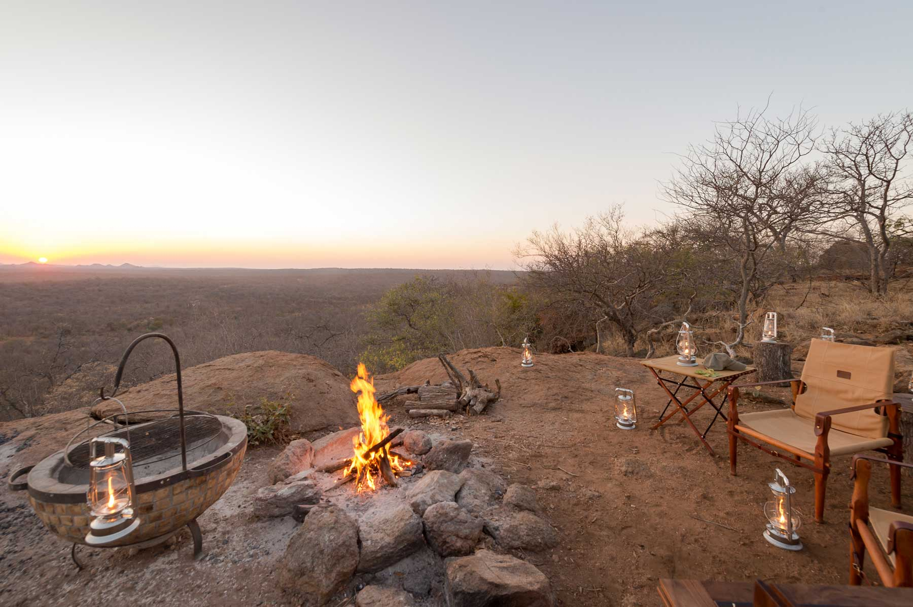 Sundowners at Maseke Game Reserve