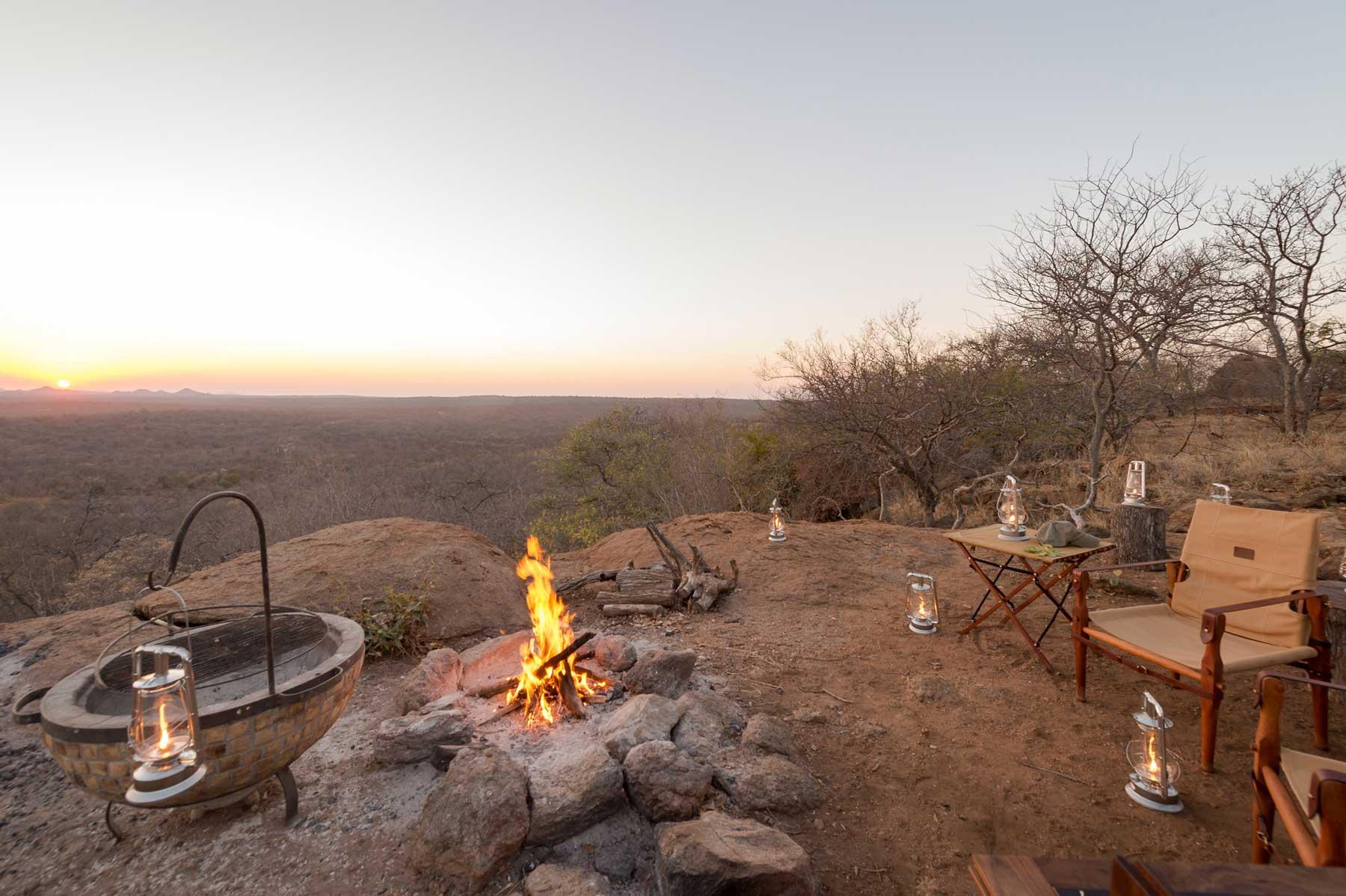Sundowners at Maseke Game Reserve