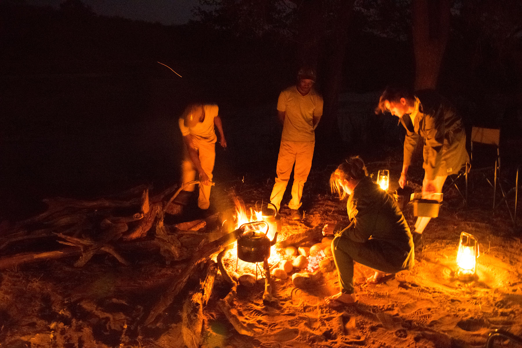Africa on Foot Wildernes Trails Camp Fire