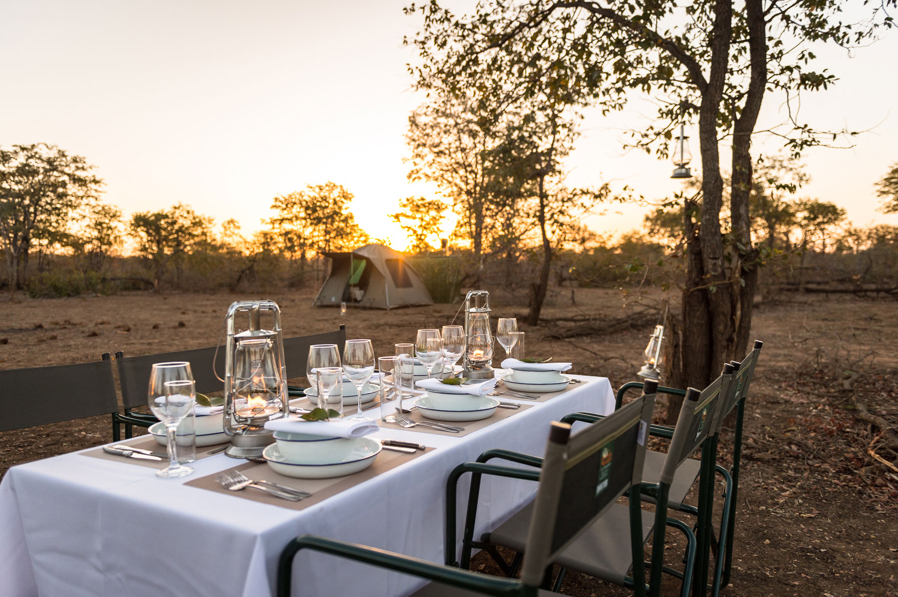 Dinner at Africa on Foot Wilderness Trails