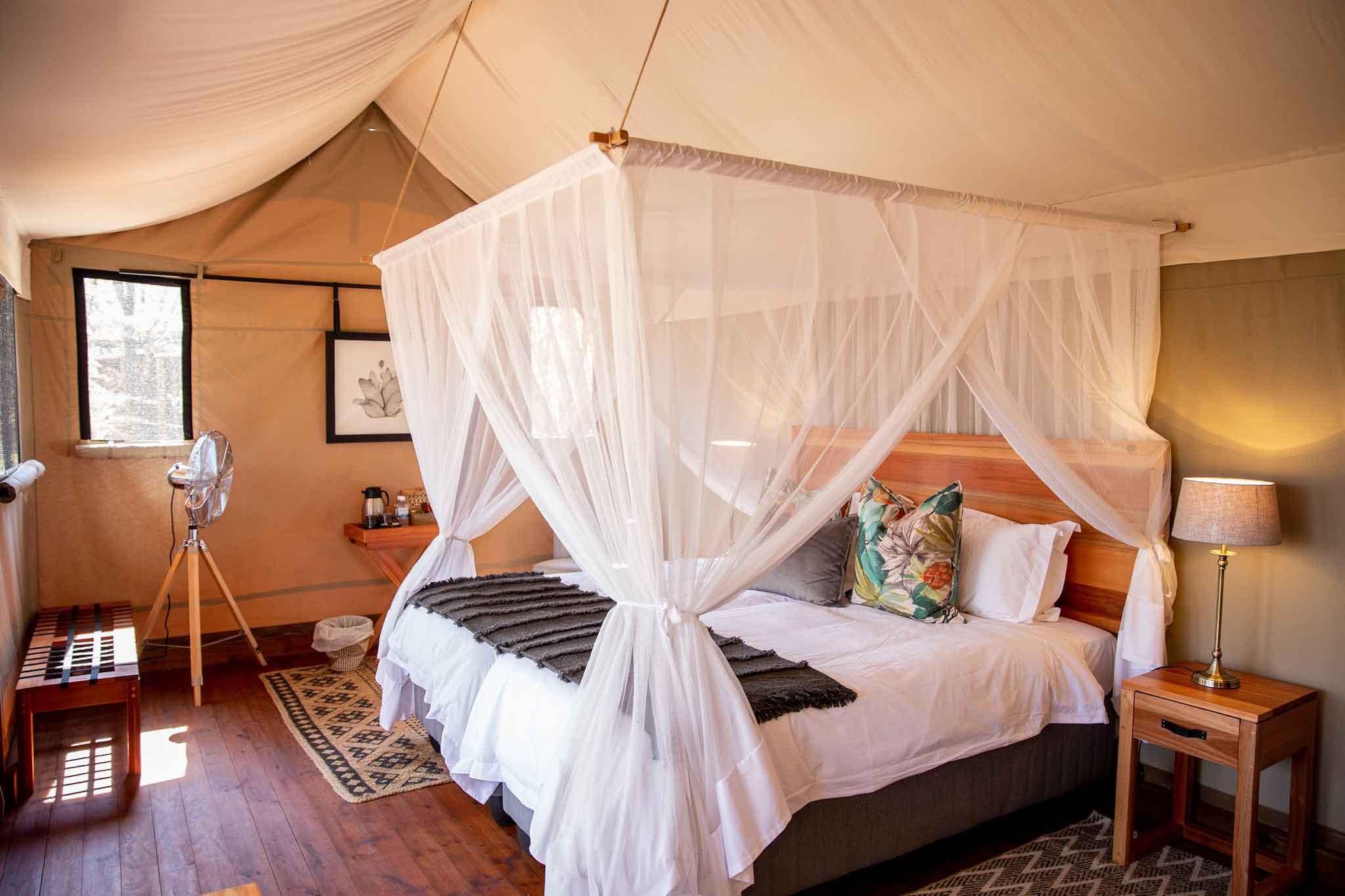 Mankwe Tented Retreat Bedroom