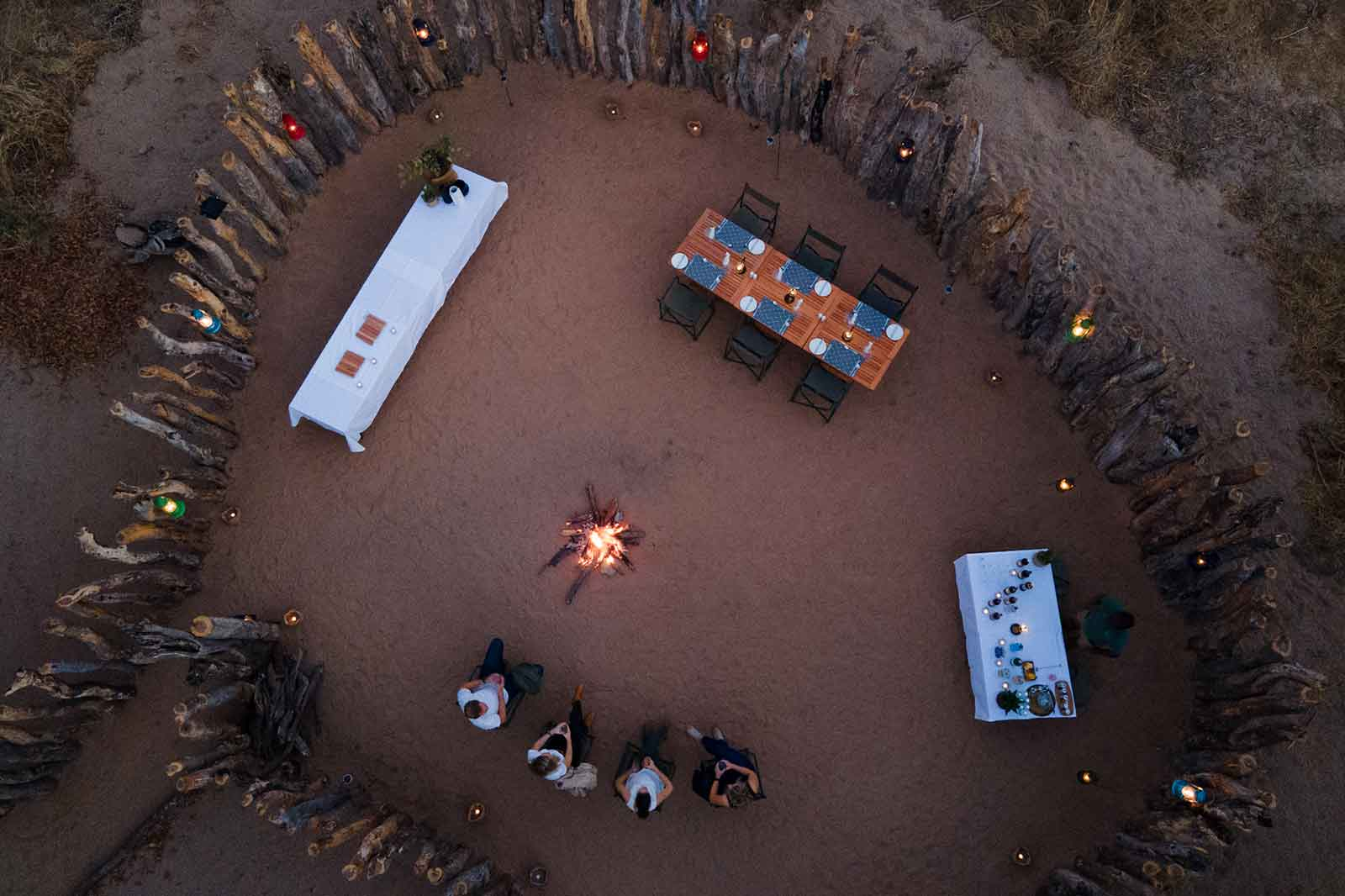 Aerial View of Mankwe Tented Retreat Boma