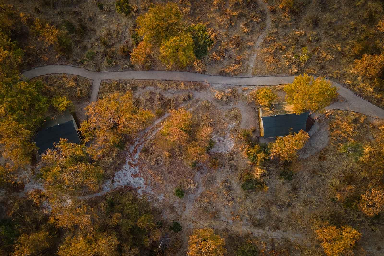 Mankwe Tented Retreat Aerial View
