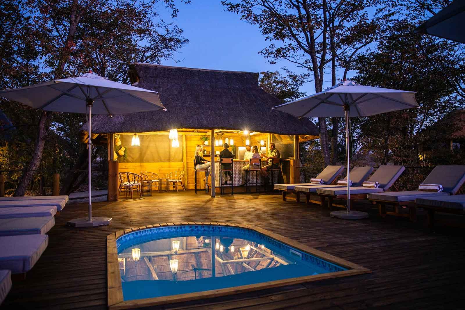 Mankwe Tented Retreat Pool and Deck