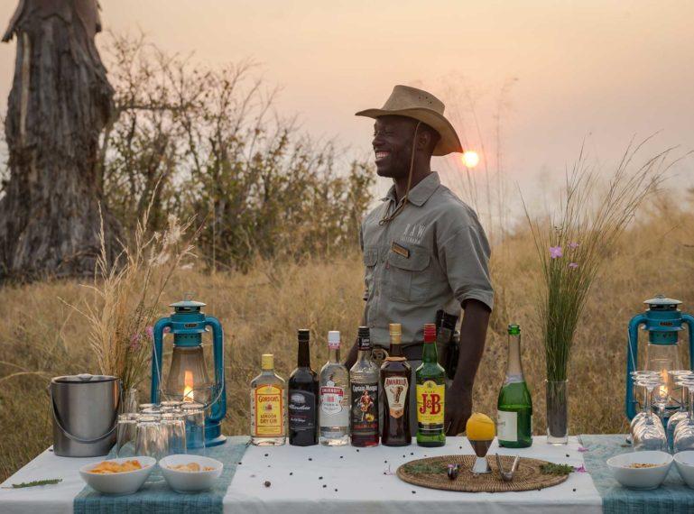 Selinda Spillway Baobab Sundowners at Motswiri Camp