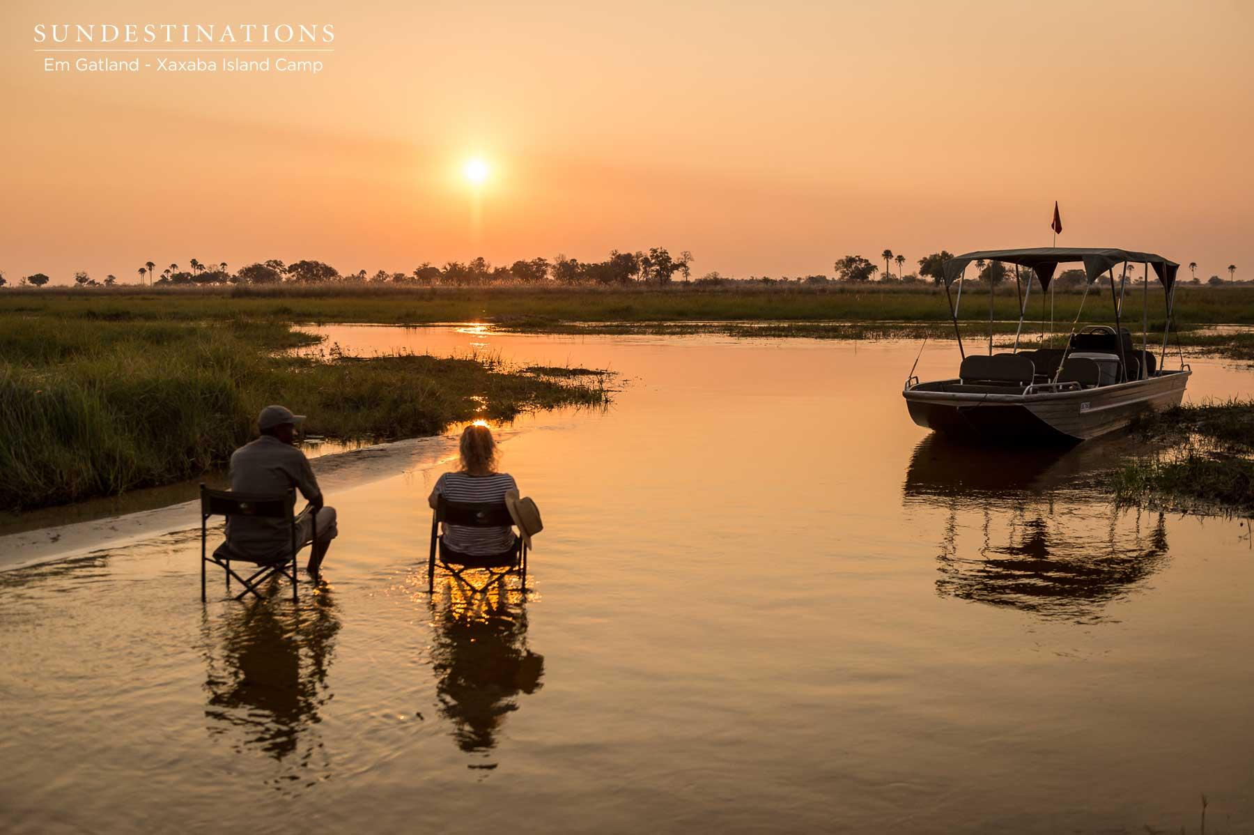Xaxaba Sunset in the Okavango Delta