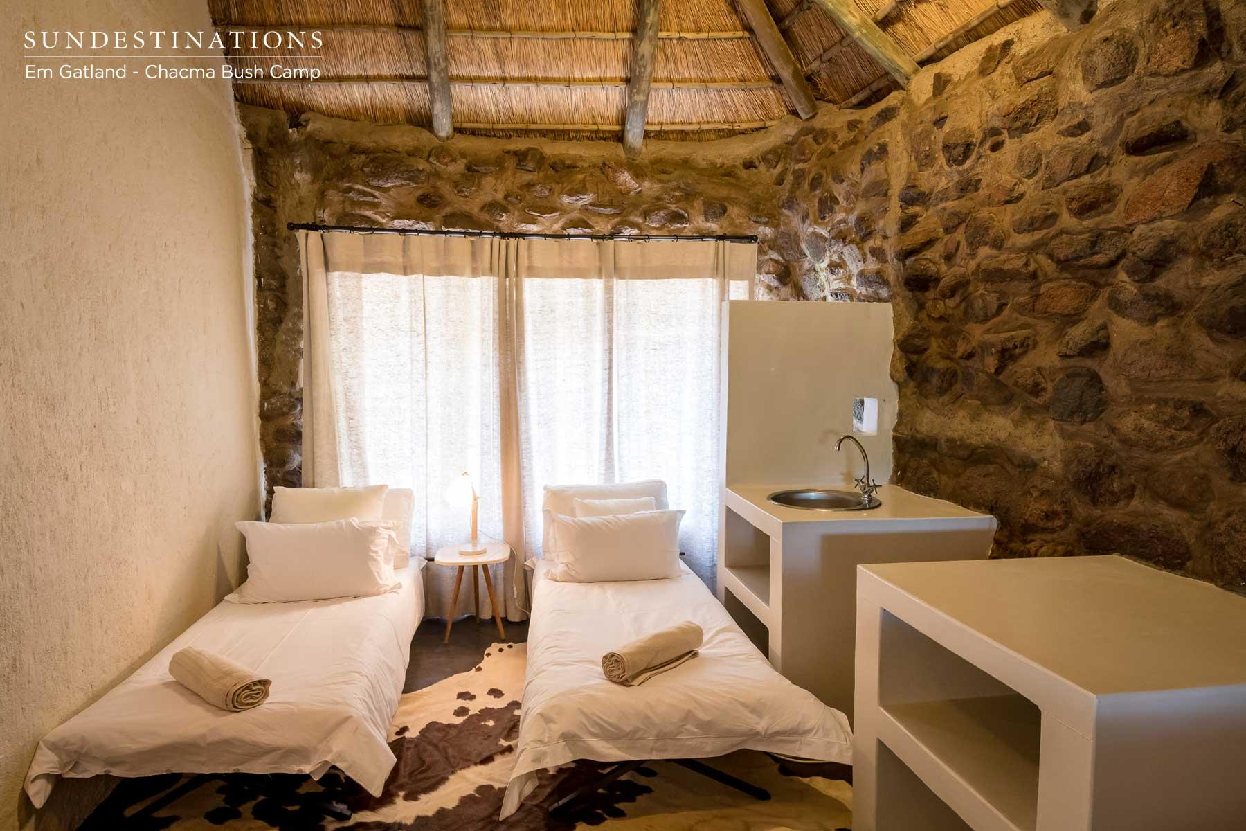 Klipspringer Twin Beds Room Set Up