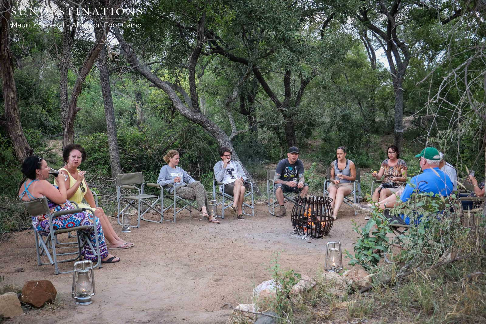 Guests at the Campfire of Bush Bar