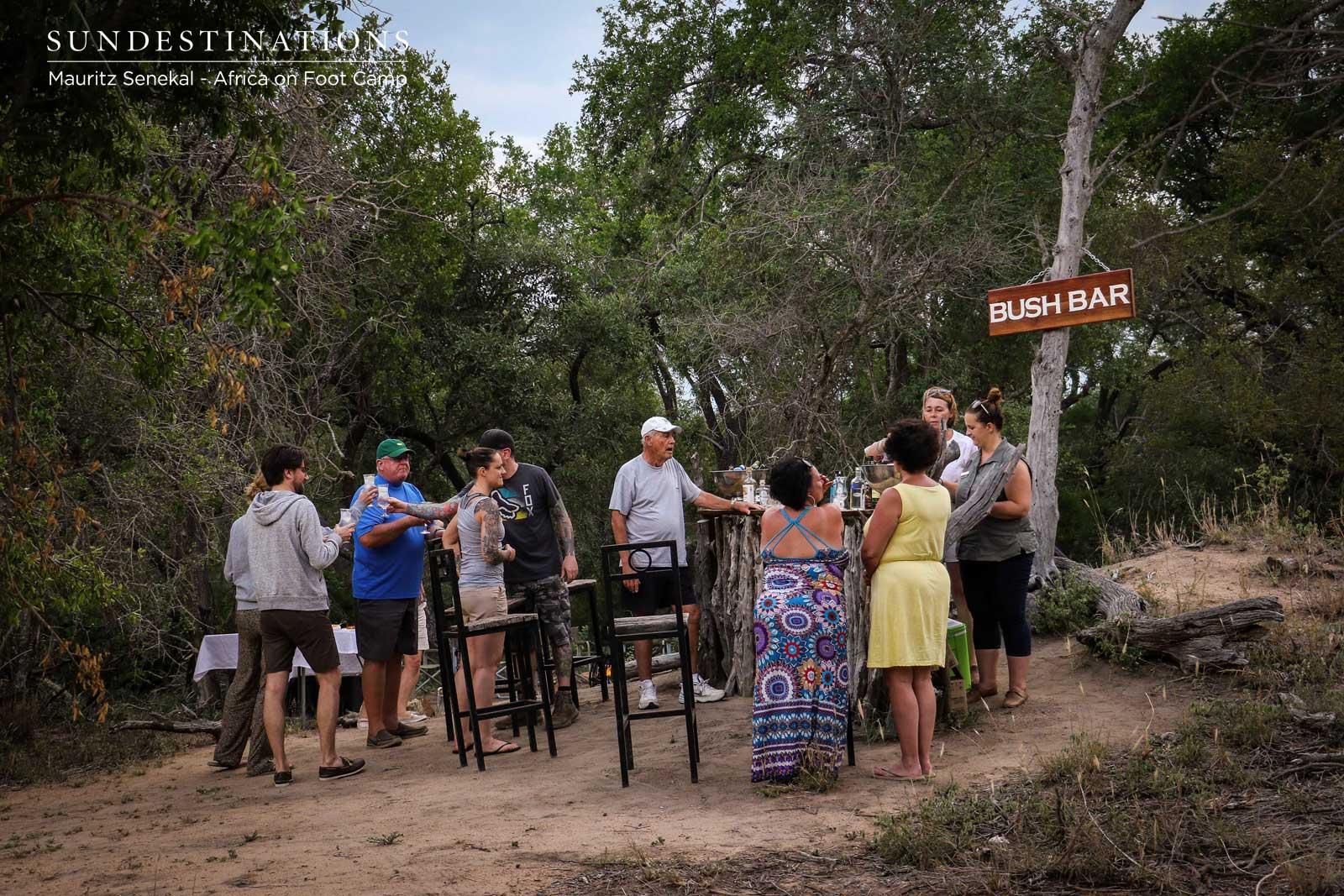 Socialising at the Bush Bar