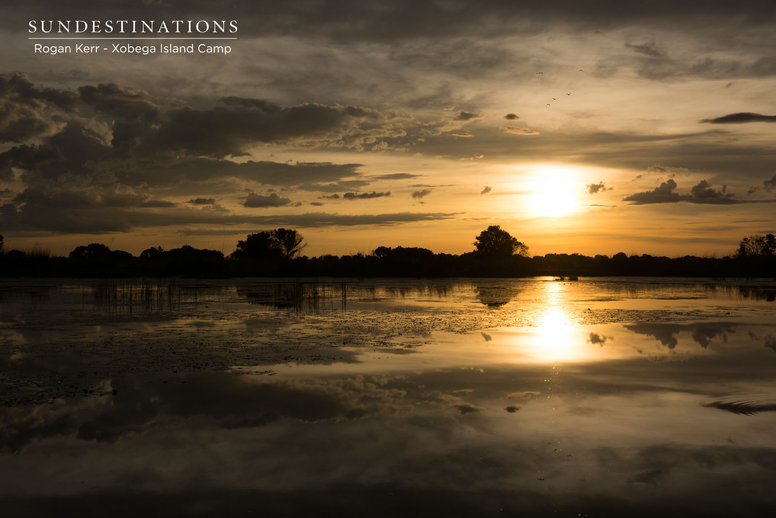 Xobega Okavango Delta Sunset