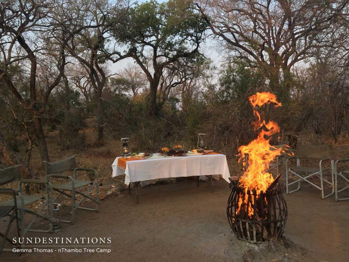 Boma and Campfire at Bush Bar