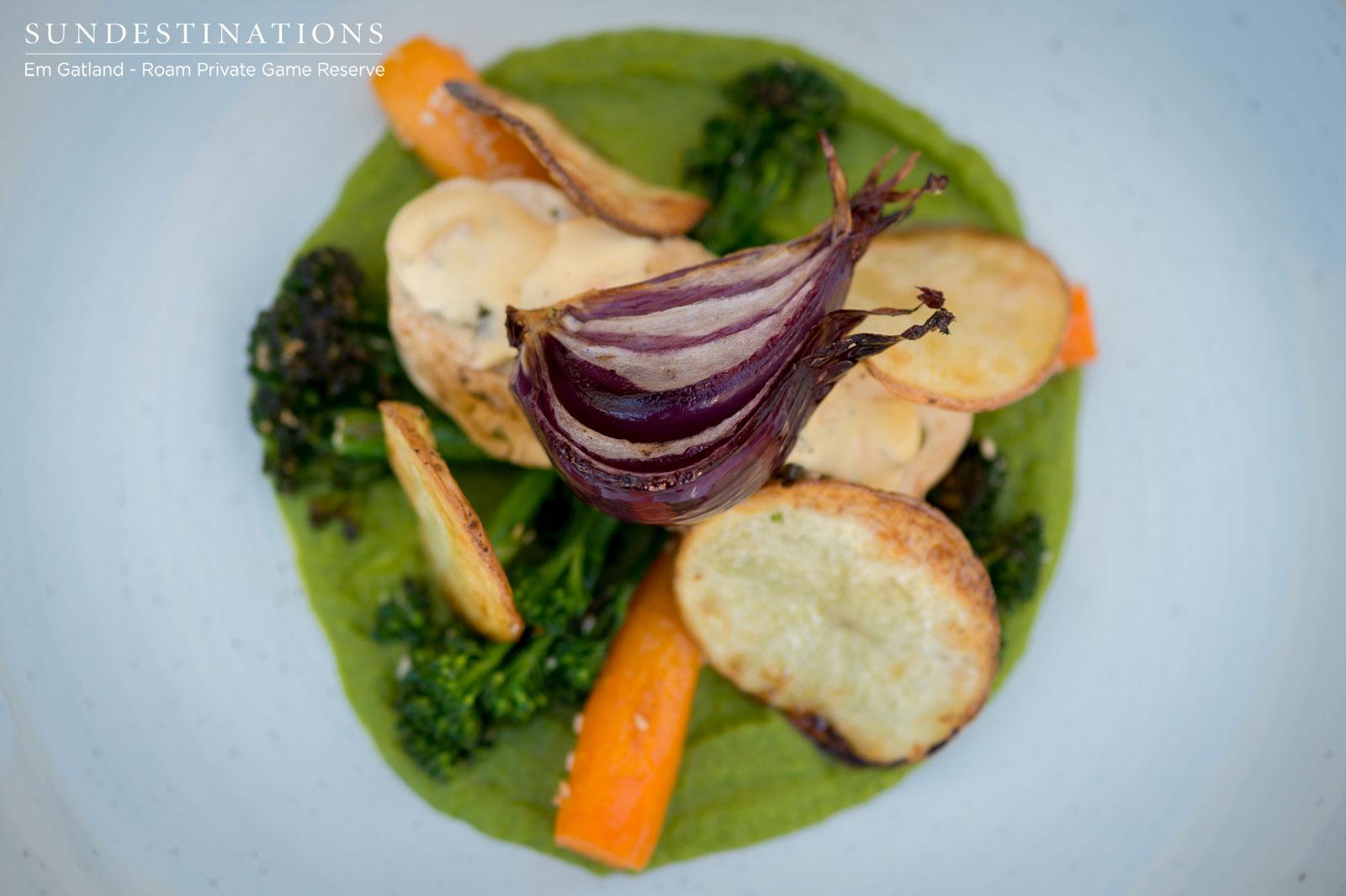Vegetable and Roast at Roam