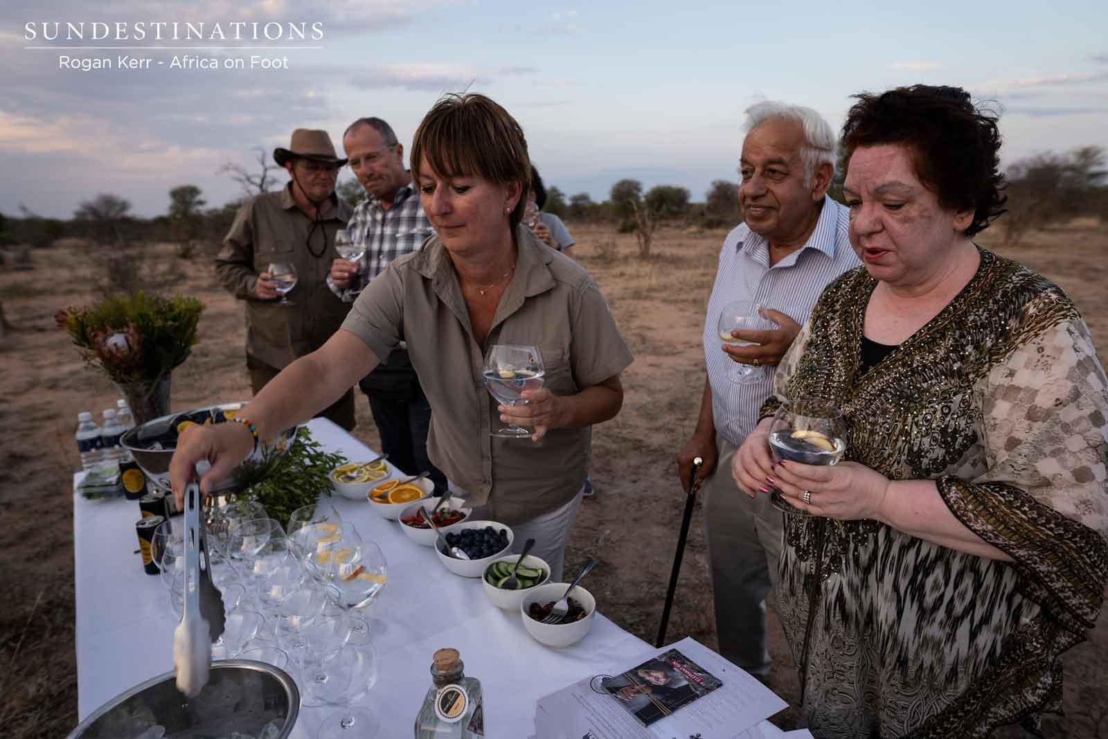 Guests Sampling Gin