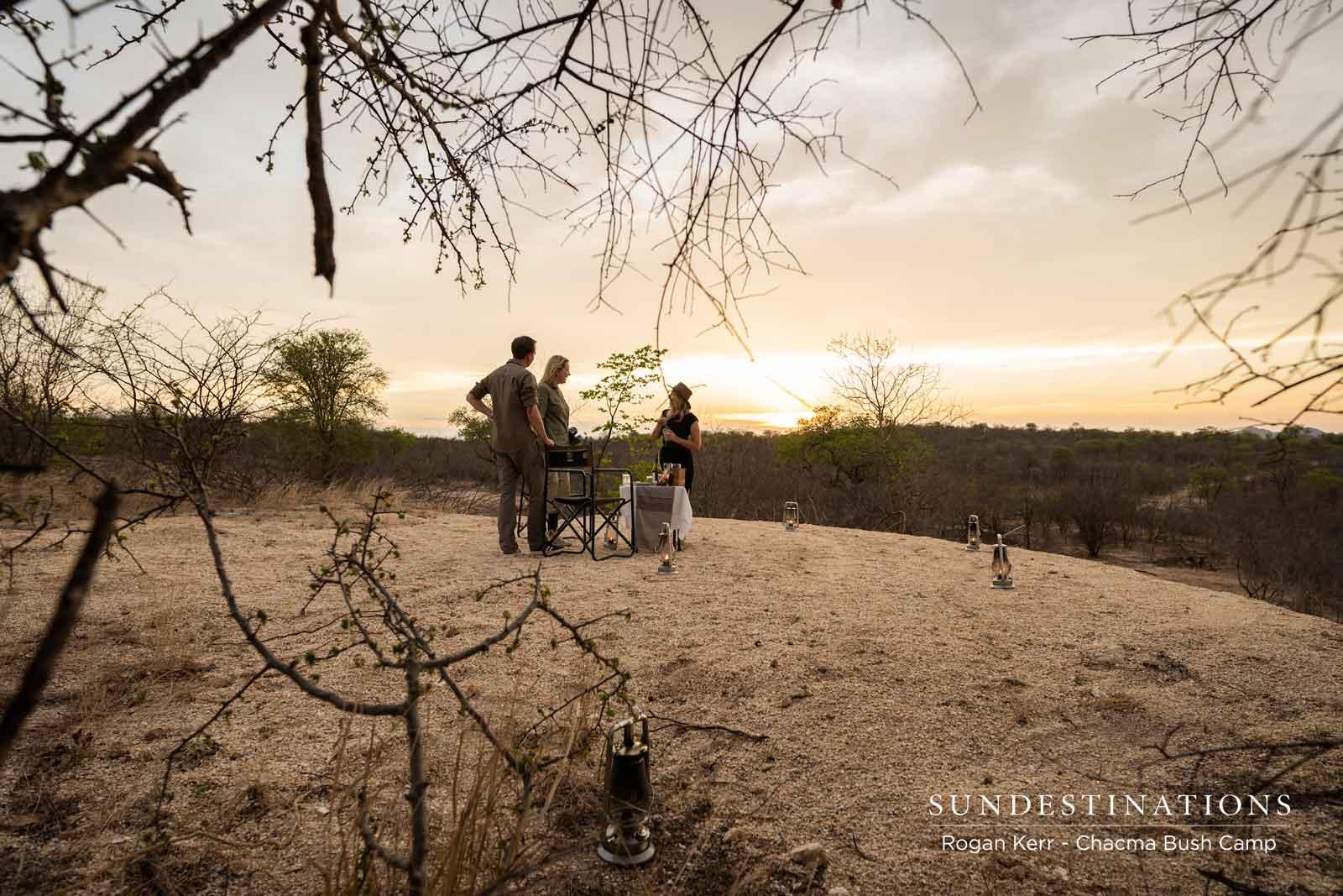 Honeymoon Sundowners at Chacma