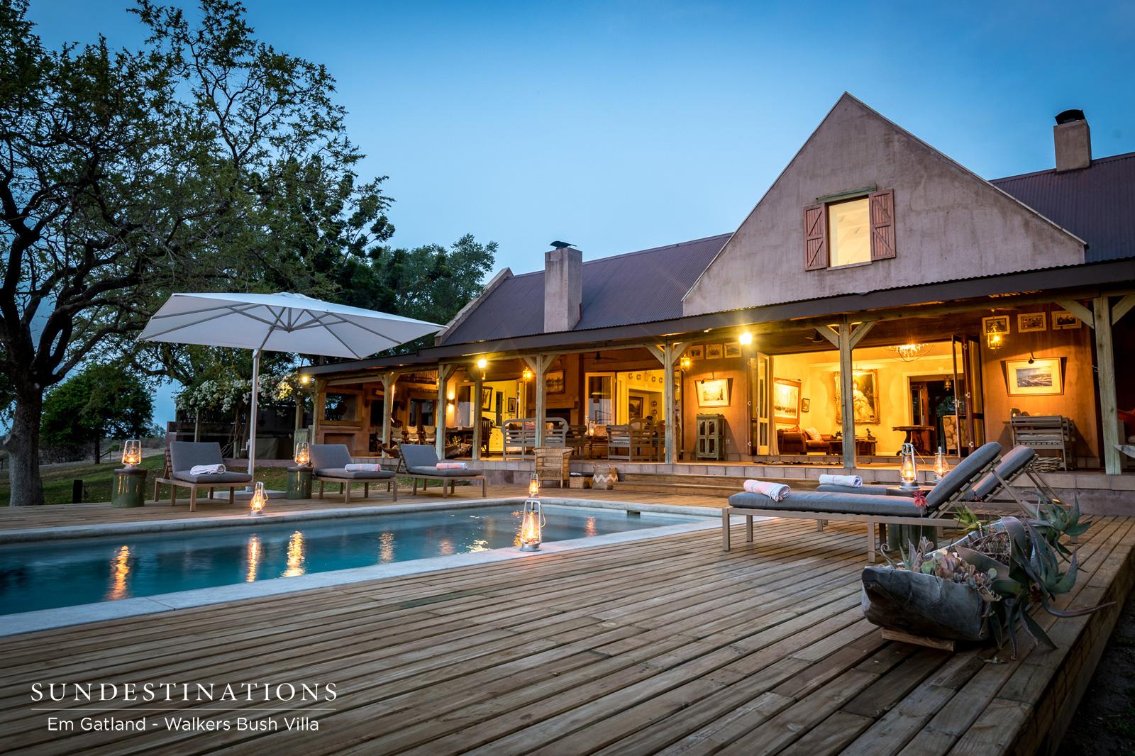 Walkers Bush Villa Pool Deck