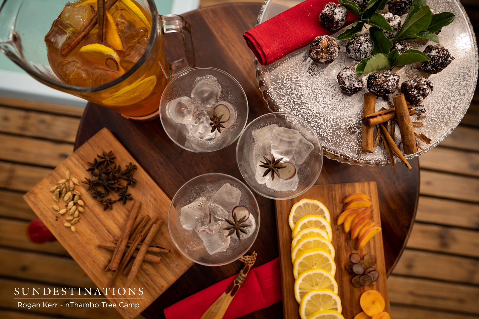 Original Spicy Cocktails and Yuletide Cheer in a Bushveld Setting