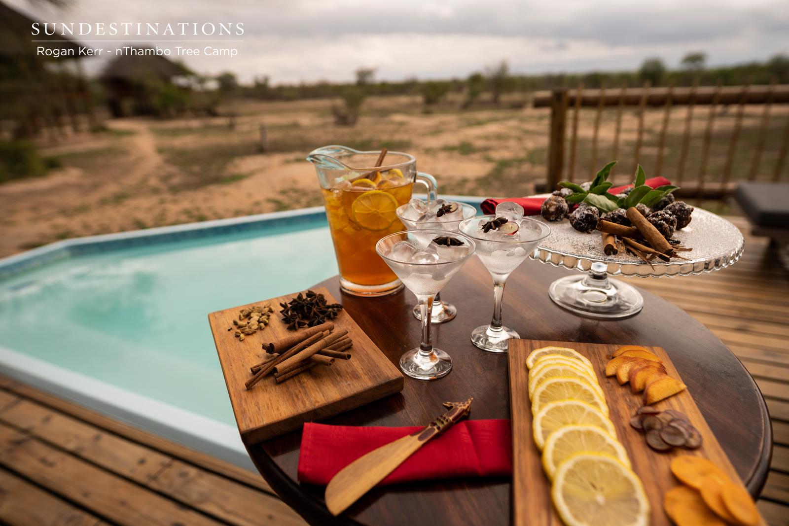 Drinks and Snacks at nThambo