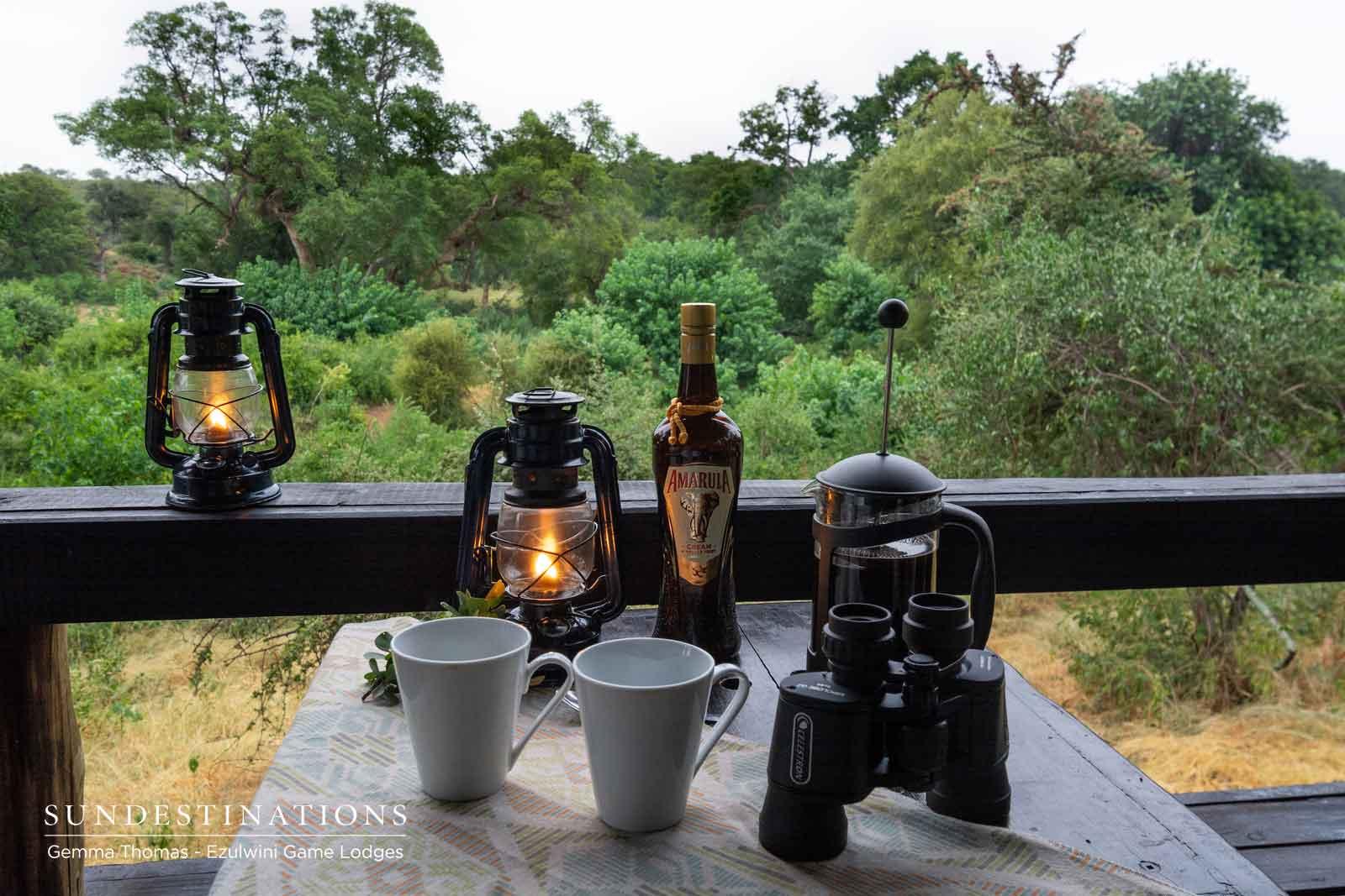 Morning Amarula Coffee at Ezulwini Game Lodges