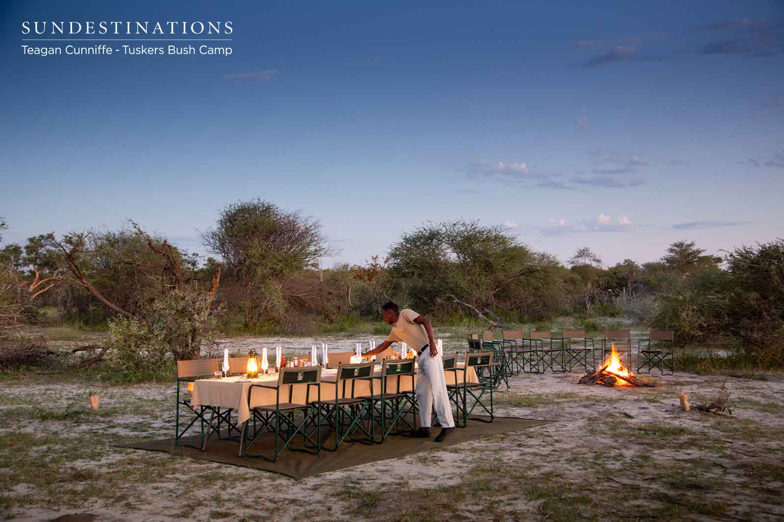 Dinner Under a Blanket of Stars at Tuskers Bush Camp