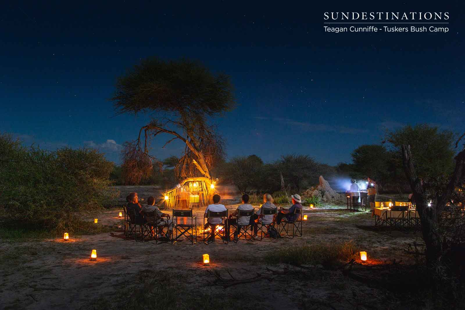 Dinner Under the Night Sky