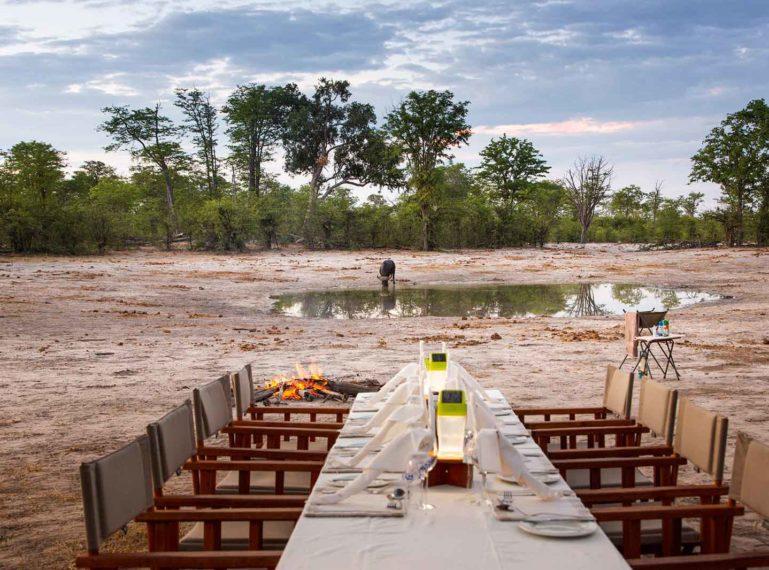 Botswana Bush Dinner Under the Stars at Motswiri Camp