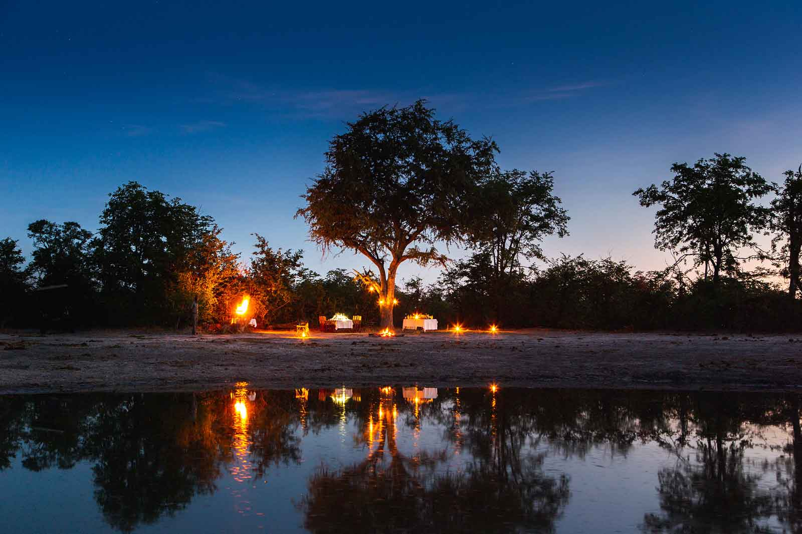 Botswana Bush Dinner Under the Stars at Motswiri Camp