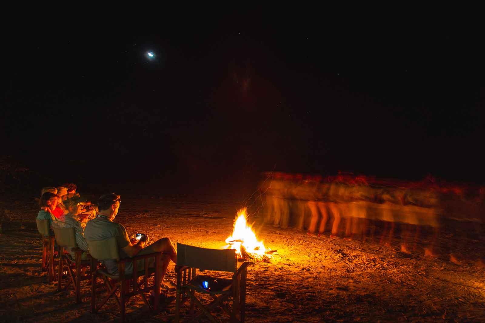 Campfire at Motswiri Camp