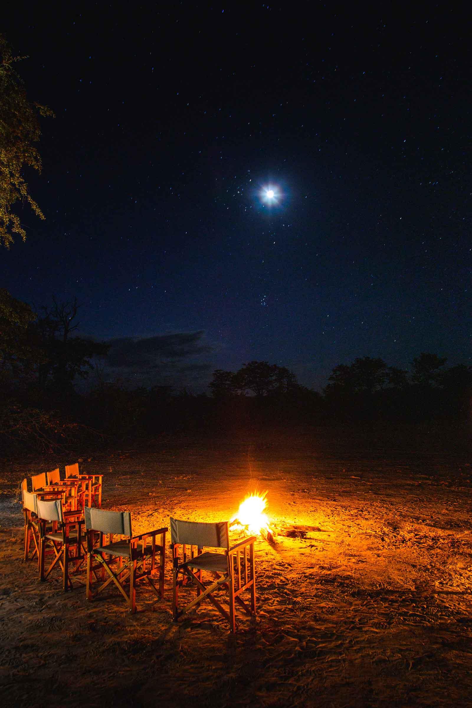 Motswiri Camp Under the Night Sky