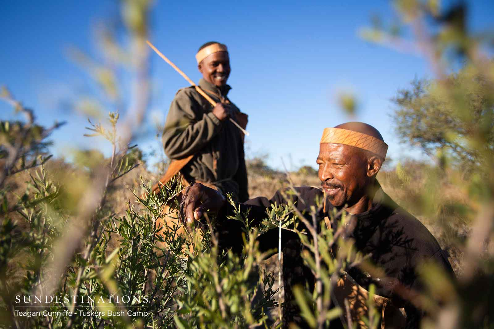 Two Bushmen at Tuskers Bush Camp
