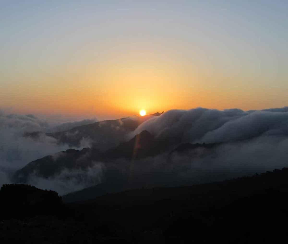 Sunset at Kilimanjaro